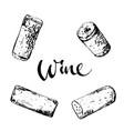set wine corks vector image vector image