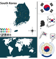 South Korea map world vector image