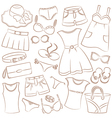 summer womenwear and accessories vector image
