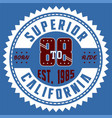 superior california vector image vector image