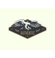 the flying eagle emblem vector image vector image