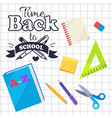 time back to school inscription with logo vector image