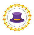 top hat round icon vector image vector image