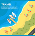 top view of seashore with umbrellas vector image vector image