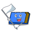 with flag memory card mascot cartoon vector image