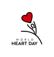 world heart day design for people health care vector image vector image