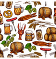 beer drink seamless pattern background vector image