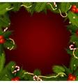 christmas frame with fir-tree vector image