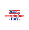 independence day in usa july 4th vector image