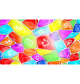 social media signs and symbols on colored stones vector image