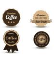 coffee beverage badge and label flat logo vintage vector image