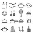 kitchenware line icons vector image