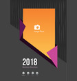 2018 dark brochure cover concept vector image vector image