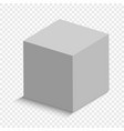 3d cube vector image vector image
