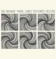 6 grunge twirl lines textures