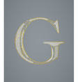 Abstract golden letter G vector image vector image