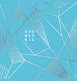 abstract silver line geometric on blue background vector image