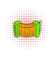 Accordion icon in comics style vector image vector image