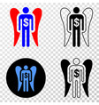 angel investor eps icon with contour vector image