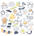 back to school kids hand drawn doodle with boy vector image vector image