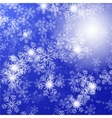 blue background with christmas stars and vector image vector image