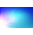 blue bokeh with sun glow on abstract light vector image vector image