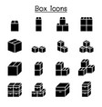 box icon set vector image vector image