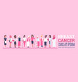 breast cancer day diverse group of woman disease vector image vector image