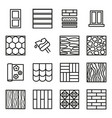 building construction materials signs black thin vector image vector image