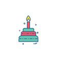 cake icon deisgn vector image vector image