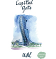 Capital Gate vector image