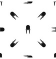 chair pattern seamless black vector image vector image