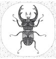 coloring page of black bug entangle vector image