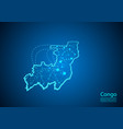 congo map with nodes linked by lines concept of vector image vector image