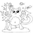 cute halloween cat - monster vector image vector image