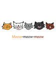 cute kittens of different colors vector image vector image
