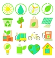 Ecology items icons set cartoon style vector image vector image