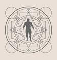esoteric mystical symbols vector image