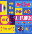 fish abstract colorful collage vector image vector image