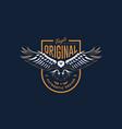 flying eagle emblem vector image