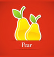 Fruit label Pear vector image vector image