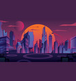 futuristic city landscape vector image vector image