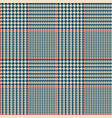 glen check blue checkered seamless pattern vector image