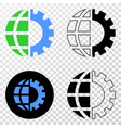 global industry eps icon with contour vector image