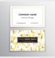 golden business card with brush splashes vector image vector image
