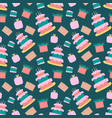 happy birthday pattern in vector image