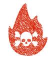 hellfire icon grunge watermark vector image vector image