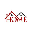 home property logo vector image