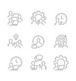 human resources line icons on white background vector image vector image