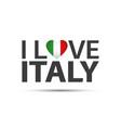i love italy symbol italian inscription vector image